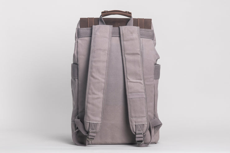 Rider Backpack Waxed Canvas Grey