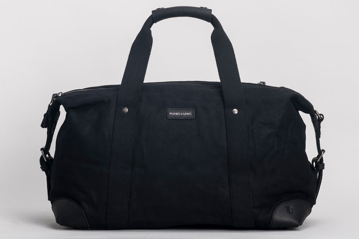 Somerset Holdall Waxed Canvas Black