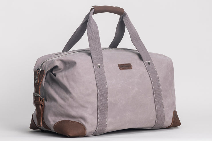 Somerset Holdall Waxed Canvas Grey