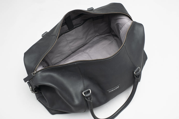 Somerset Holdall Leather Black - Large