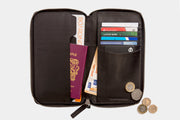 Tunbridge Travel Wallet Black