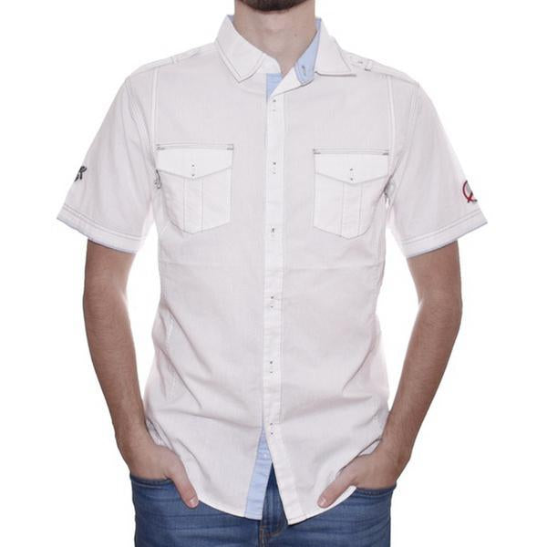 CONTRAST STICH S/S BUTTON DOWN
