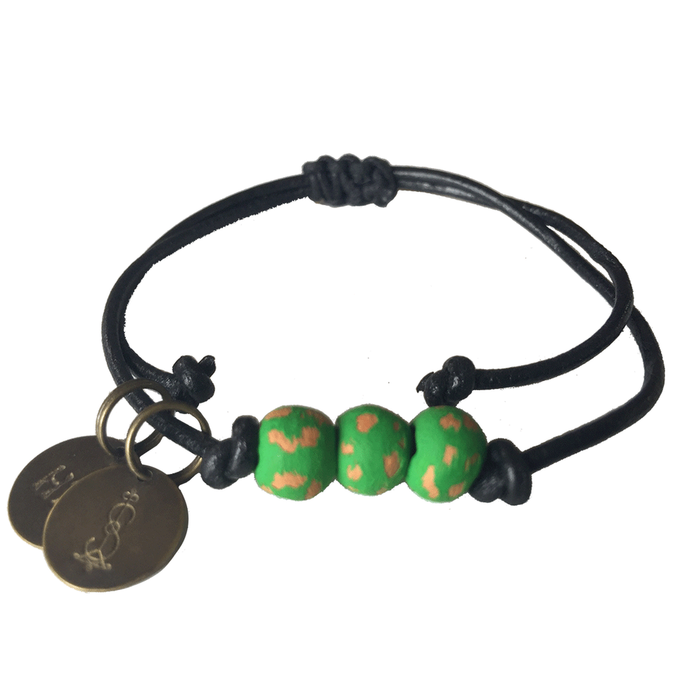 SIMBI Pipeline Beaded Bracelet -  Emerald