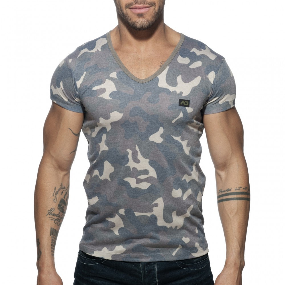 WASHED CAMO T-SHIRT