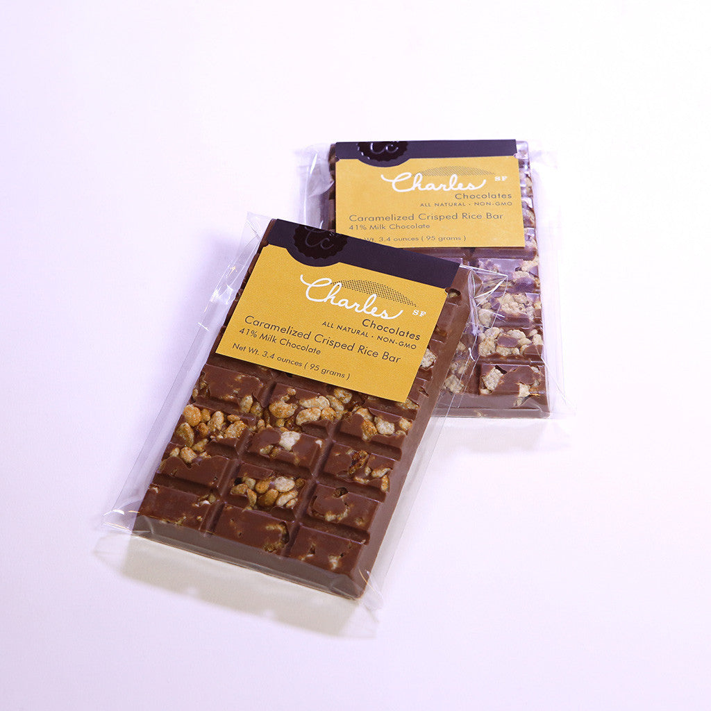 Caramelized Crisped Rice Bar, Milk Chocolate | Charles Chocolates