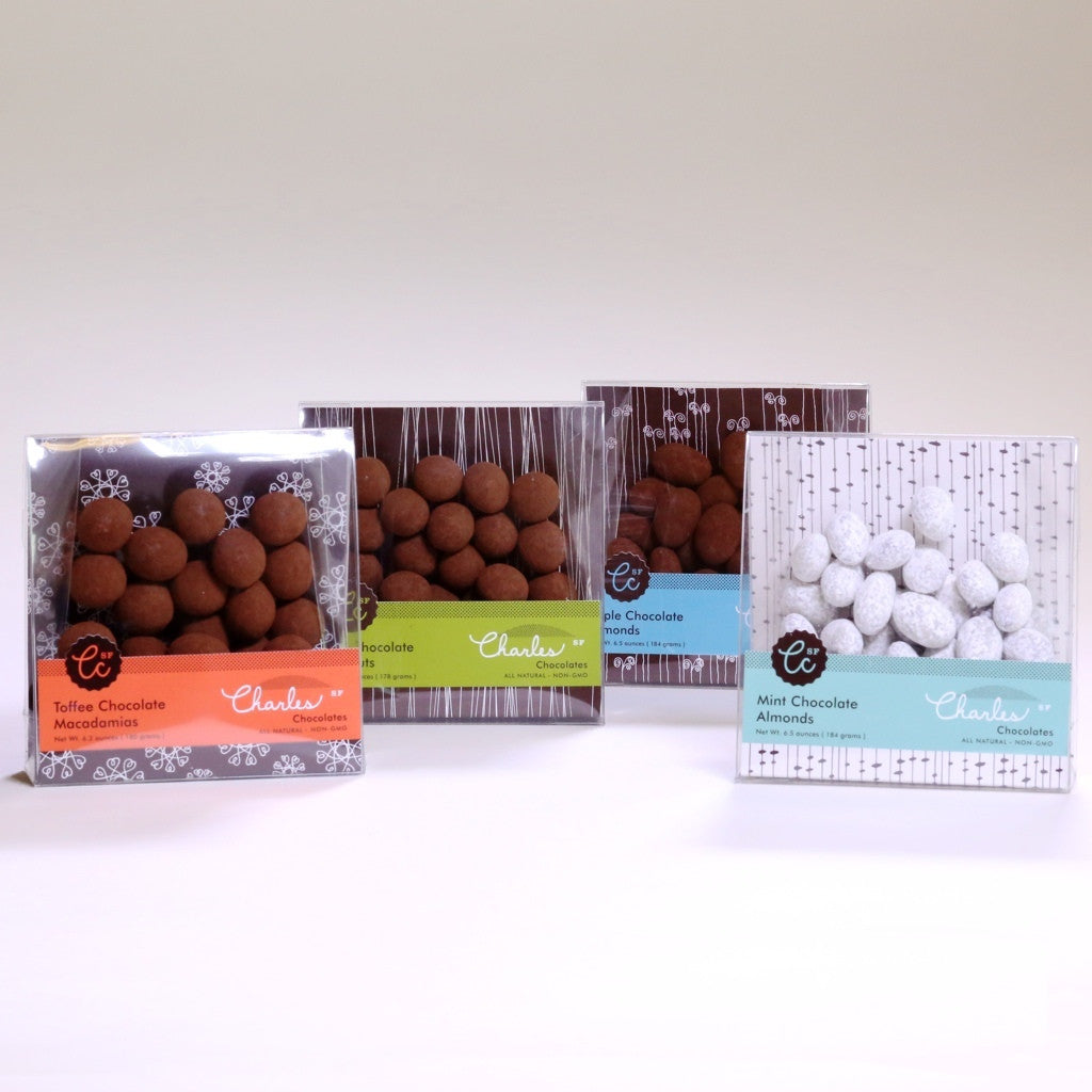 Chocolate Covered Nut Collection | Charles Chocolates