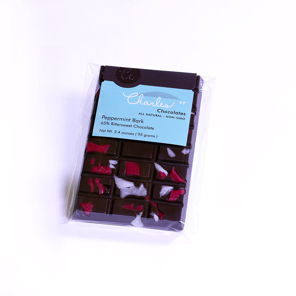 Peppermint Bark Bar | Charles Chocolates