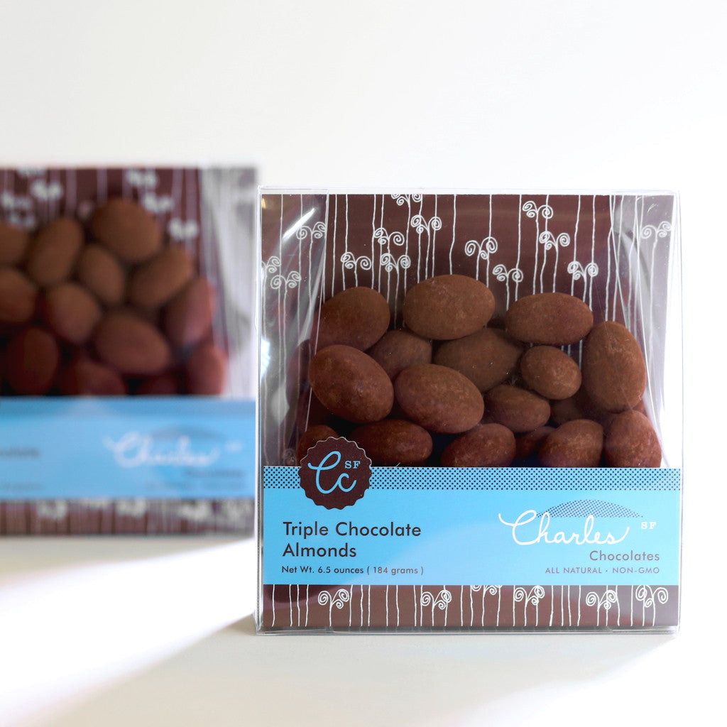 Triple Chocolate Almonds | Charles Chocolates