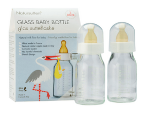 Glass Baby Bottle Sets & Natural Rubber Nipples