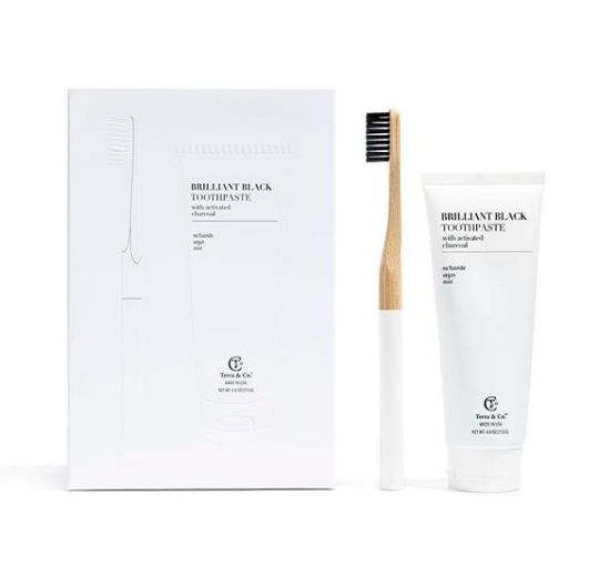 Bamboo & Charcoal Toothbrush & Toothpaste Kit