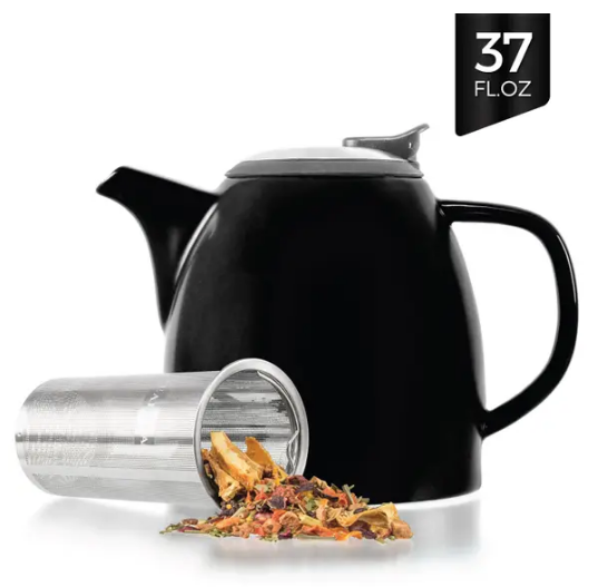Drago Ceramic Teapot With Infuser 37oz