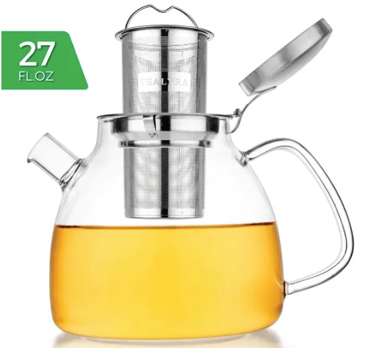 Lyra Glass Teapot Kettle 27 oz