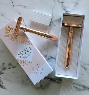 Rose Gold Safety Razor