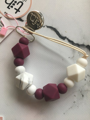 Silicone Jewel Teething Tether