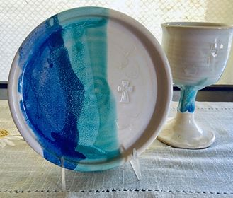 Communion Set in Ocean Breeze
