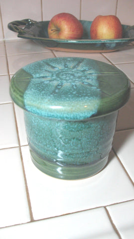 French Butter Dish in Emerald Isle Green