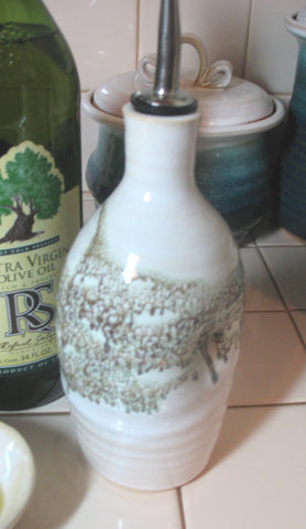 Olive Oil Bottle in Espresso  Mint