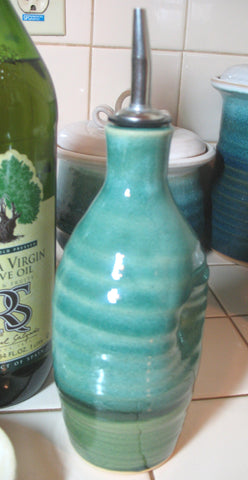 Olive Oil Bottle in Emerald Isle Green