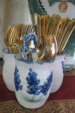 Silverware Caddie with Bluebonnets