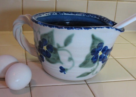 Mixing/Batter Bowl with Two Blue Flowers