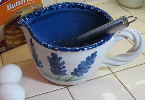 Mixing/Batter Bowl with Bluebonnets