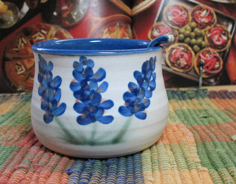 Salsa Bowl with Bluebonnets