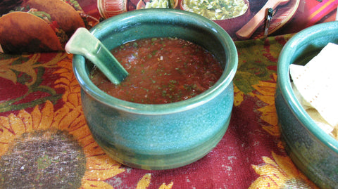 Salsa Bowl in Emerald Isle Green