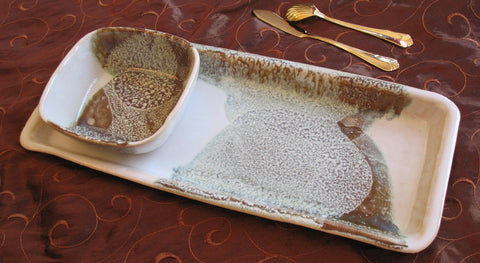 Tray Set in Espresso Mint Glaze