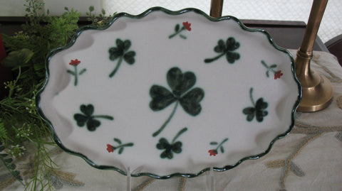 Oval Plate with Our Shamrock Design