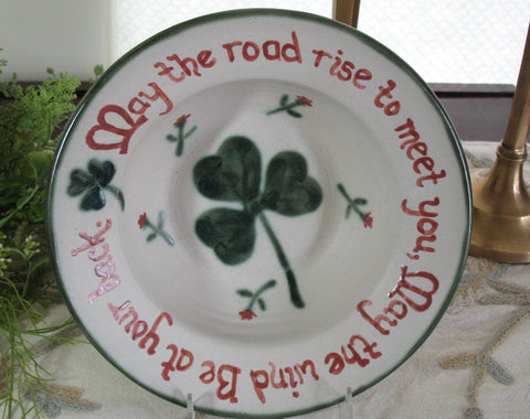Irish Saying Bowl-May the Road Rise to Meet You