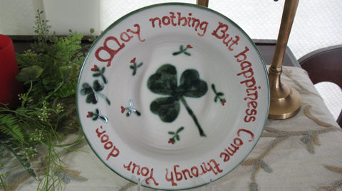 Irish Saying Bowl- May Nothing But Happiness