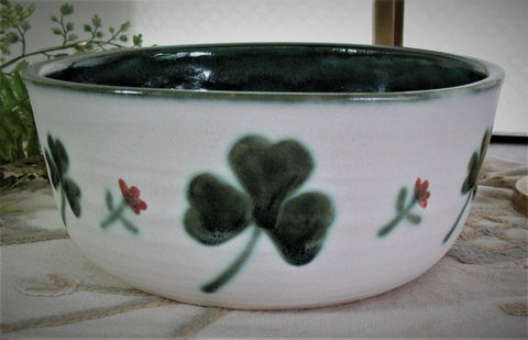 Serving Bowl with Shamrock Design