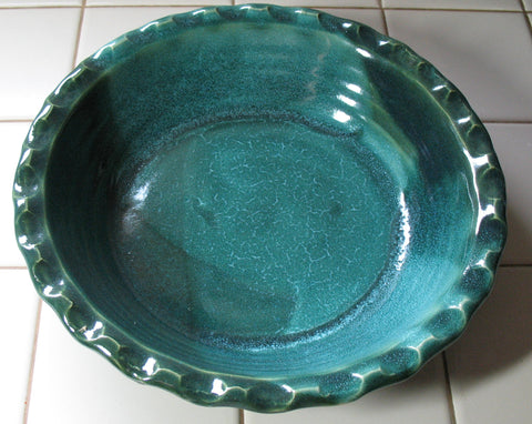 Pie Plate in Emerald Isle Green