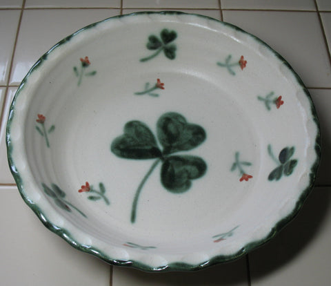 Pie Plate with Shamrocks