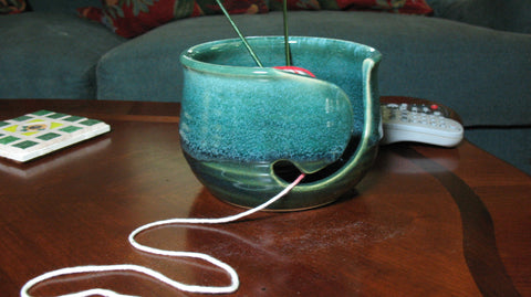 Yarn Bowl in Emerald Isle Green