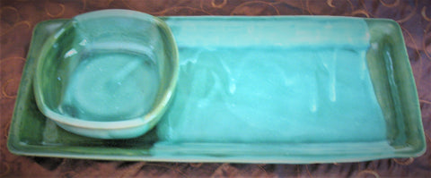 Tray Set in Our Emerald Isle Green Glaze