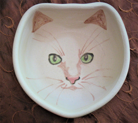 Cat Face Bowl in Green