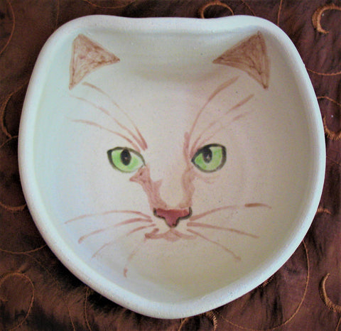 Cat Face Bowl in Blue