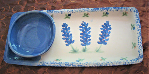 Tray Set with Blue Bonnets