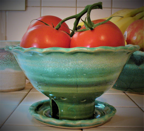 Berry Bowl in Our Emerald Isle Green Glaze