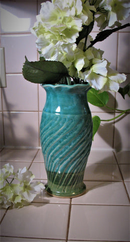Fluted Vase in Our Emerald Isle Green