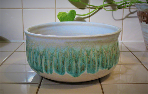 Carved Serving Bowl in Our Sandy Shores Glaze