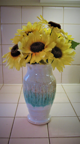 Vase in Our Sandy Shores Glaze