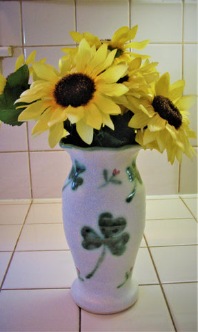 Vase with Our Shamrock Design