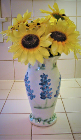 Vase in Our Texas Blue Bonnet Design