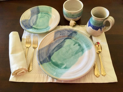 Dinnerware in Ocean Breeze