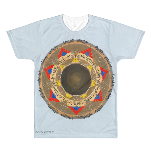 """Pomo Gift Fire"" ©2010 (7th Chakra) - LA Apparel PL401 Men's Sublimation T-Shirt"