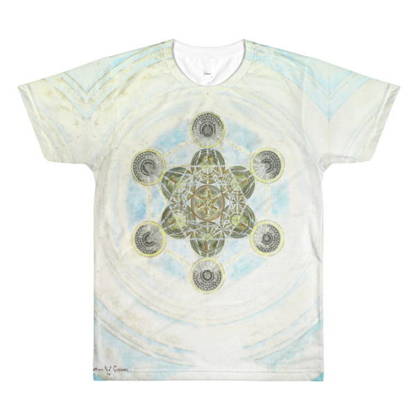 """Metatron's Cube: Voice Of God"" ©2014 - LA Apparel PL401 Men's Sublimation T-Shirt"