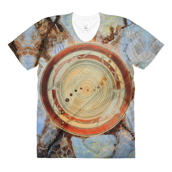 """Spawn & Thrive - Life's Ripples Of Hope"" Vers. 2  ©2012 (2nd Chakra) - LA Apparel PL301 Women's Sublimation T-Shirt"