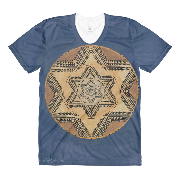 """Flying Geese Series 2 - Outward Migration"" ©2009 (6th Chakra) - LA Apparel PL301 Women's Sublimation T-Shirt"